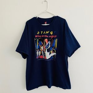 Vintage Sting 1986 Bring On The Night Tee 2XL